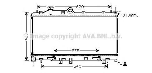 Радиатор основной для Subaru Forester (S12) 2008-2012 - Фото №1