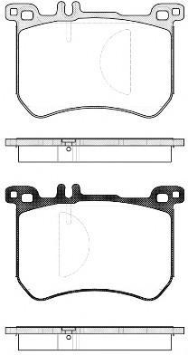 Колодки тормозные передние к-кт для Mercedes Benz W222 2013> - Фото №1