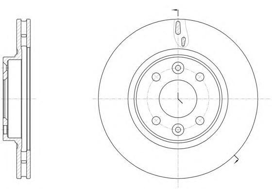 Диск тормозной передний вентилируемый для Renault Logan II 2014> - Фото №1