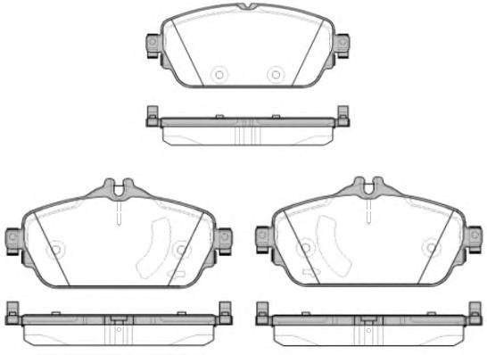 Колодки тормозные передние к-кт для Mercedes Benz W205 2013> - Фото №1