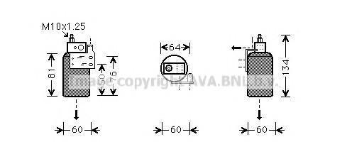 Осушитель системы кондиционирования для Opel Astra G 1998-2005 - Фото №1