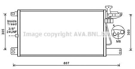 Радиатор кондиционера (конденсер) для Scania R-Serie 2004> - Фото №1