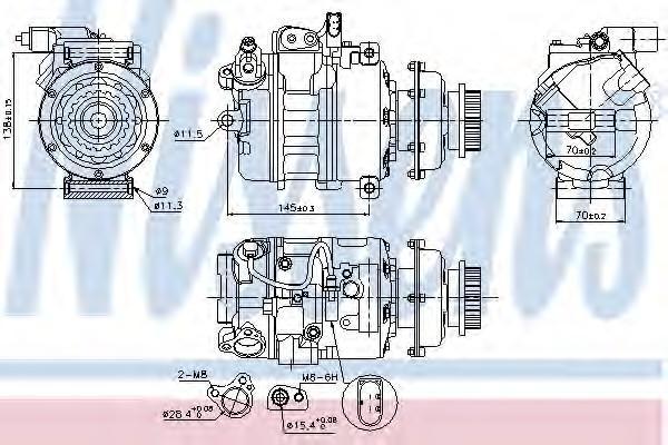 Компрессор системы кондиционирования для VW Transporter T5 2003> - Фото №1