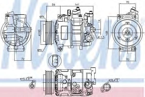 Компрессор системы кондиционирования для Audi Allroad quattro 2005-2012 - Фото №1