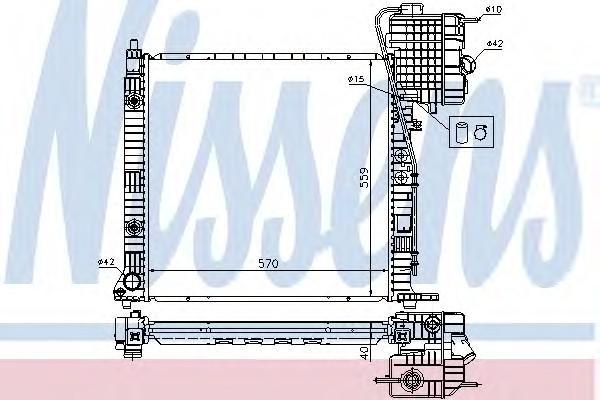 Радиатор основной для Mercedes Benz Vito (638) 1996-2003 - Фото №1