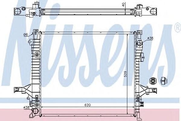 Радиатор основной для Volvo XC60 2008> - Фото №1