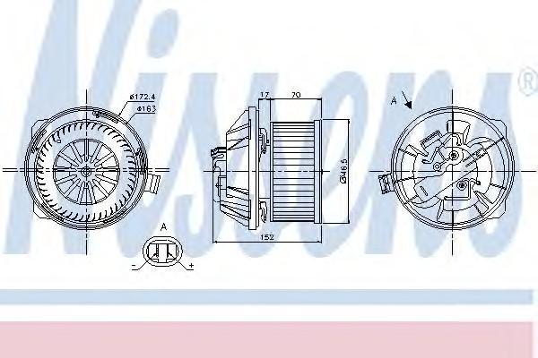Моторчик отопителя для Citroen C5 2001-2005 - Фото №1