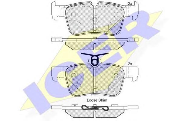 Колодки тормозные задние дисковые к-кт для Ford Mondeo V 2015> - Фото №1
