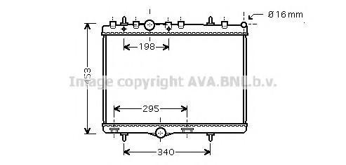 Радиатор основной для Citroen C-Elysee 2012> - Фото №1