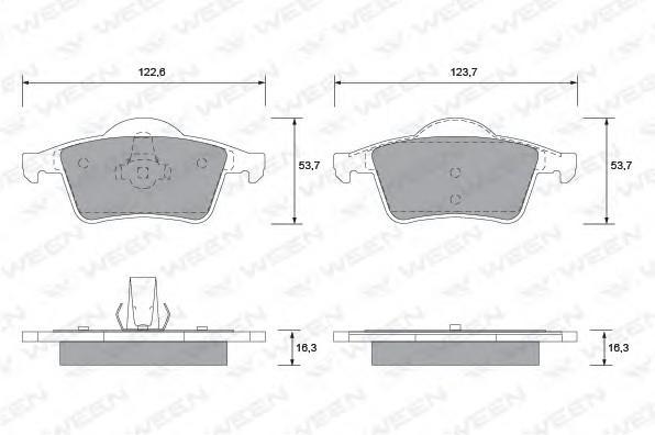 Колодки тормозные задние дисковые к-кт для Volvo S60 2000-2009 - Фото №1