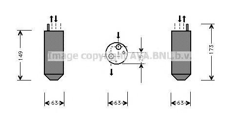 Осушитель системы кондиционирования для Chevrolet Lanos 2004-2010 - Фото №1