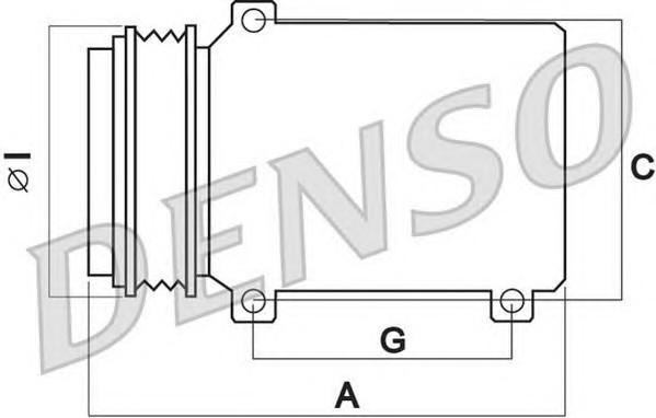 Компрессор системы кондиционирования для Audi Allroad quattro 2006-2012 - Фото №1