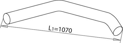 Средняя часть глушителя для MAN 3-Serie F2000 1994-2001 - Фото №1