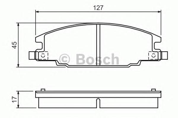 Колодки тормозные передние к-кт для Opel Campo(TF) 1991-1994 - Фото №1