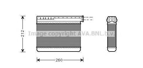 Радиатор отопителя для BMW 5-серия E39 1995-2003 - Фото №1