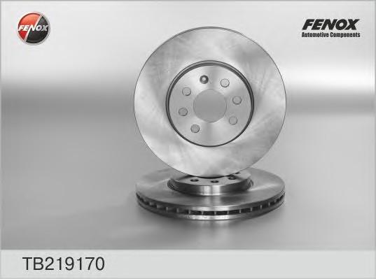 Диск тормозной передний вентилируемый для Opel Corsa C 2000-2006 - Фото №1