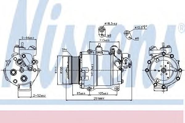 Компрессор системы кондиционирования для Honda CR-V 2007-2012 - Фото №1