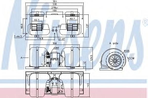 Моторчик отопителя для DAF XF 2002> - Фото №1