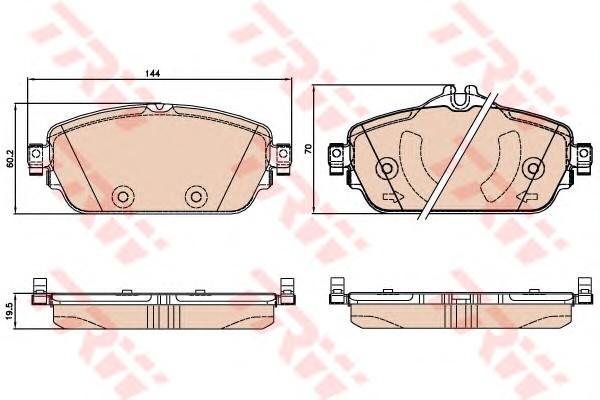 Колодки тормозные передние к-кт для Mercedes Benz W205 2014> - Фото №1