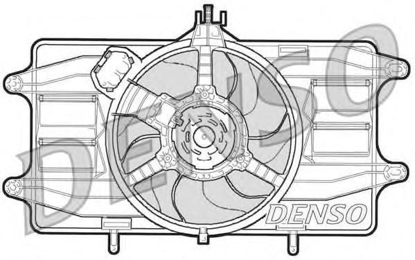 Вентилятор радиатора для Fiat Doblo 2001-2005 - Фото №1