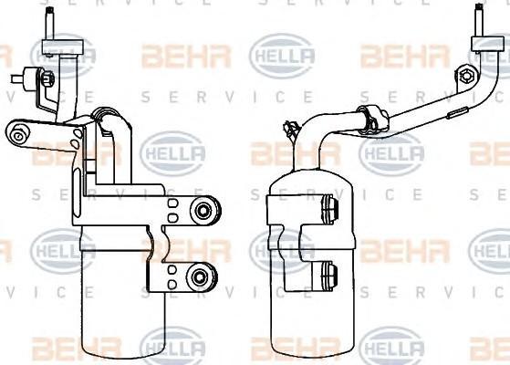 Осушитель системы кондиционирования для Ford Kuga 2008-2012 - Фото №1