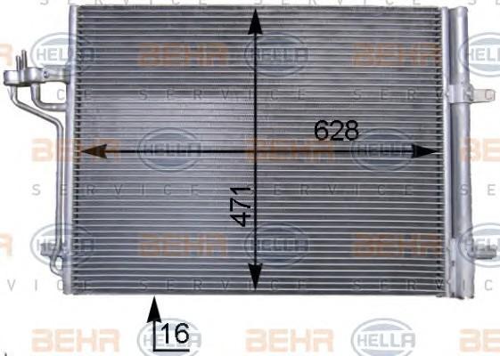Радиатор кондиционера (конденсер) для Ford C-MAX 2011> - Фото №1