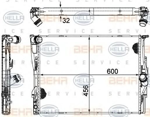 Радиатор основной для BMW 1-серия E82/E88 2007-2013 - Фото №1