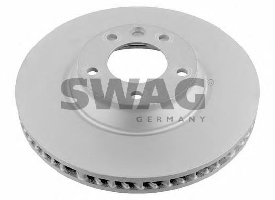 Диск тормозной передний вентилируемый правый для Porsche Cayenne 2003-2010 - Фото №1