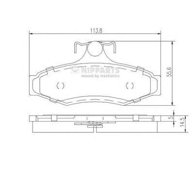 Колодки тормозные задние дисковые к-кт для Daewoo Nubira 1997> - Фото №1
