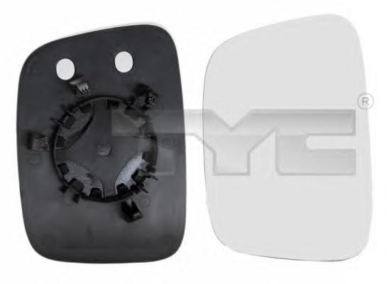 Стекло зеркала электрического левого для VW Transporter T5 2003-2015 - Фото №1