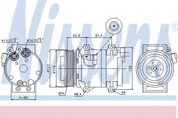 Компрессор системы кондиционирования для Volvo XC70 Cross Country 2007> - Фото №1