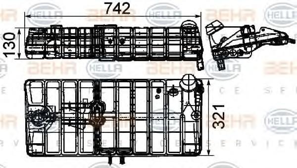 Бачок расширительный для MAN 2-Serie F90 1986-1997 - Фото №1