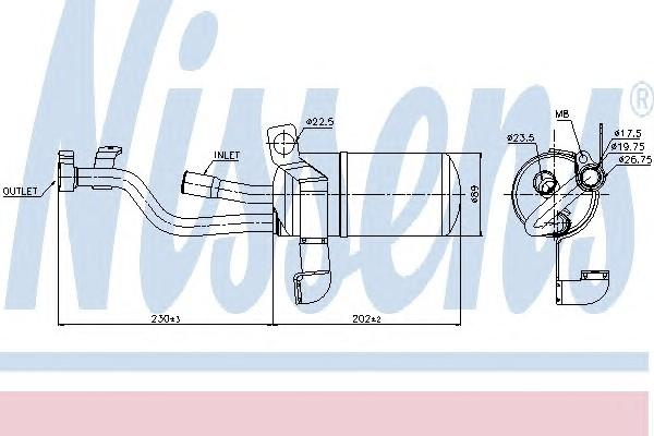Осушитель системы кондиционирования для Ford Focus II 2008-2011 - Фото №1
