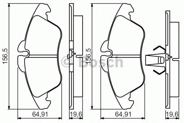 Колодки тормозные передние к-кт для VW LT II 1996> - Фото №1