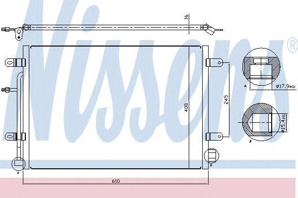 Радиатор кондиционера (конденсер) для Audi A4 [B7] 2005-2007 - Фото №1
