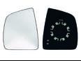 Стекло зеркала механического левого для Fiat Doblo 2005>
