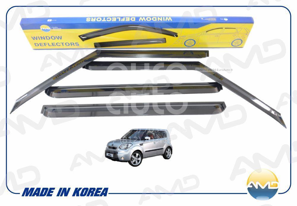 К-кт ветровиков (дефлекторы) бокового стекла для Kia Soul 2009-2014 - Фото №1