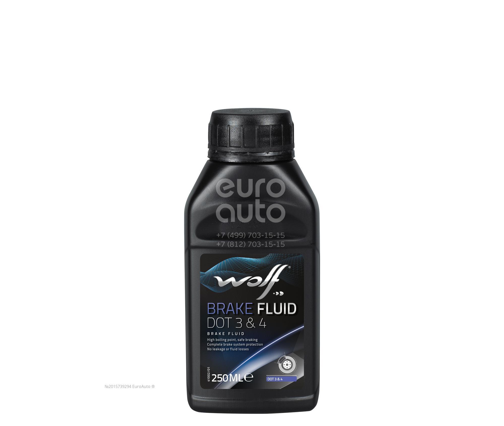 Жидкость тормозная WOLF DOT 3, DOT 4 250ML - Фото №1