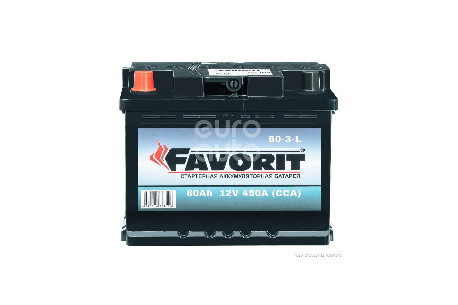 Аккумулятор +/- 242-175-190 АКБ FAVORIT 60 А*Ч 510А (60-3-L) - Фото №1