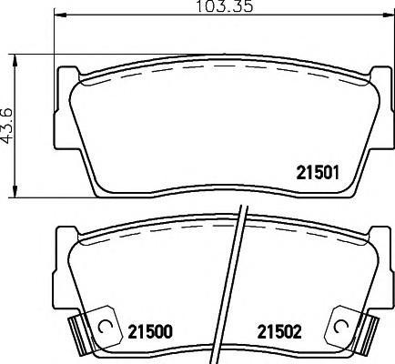 Колодки тормозные передние к-кт для Suzuki Jimny FJ 1998> - Фото №1
