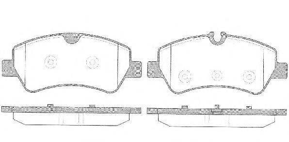 Колодки тормозные задние дисковые к-кт для Ford Transit 2014> - Фото №1