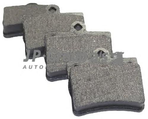 Колодки тормозные задние дисковые к-кт для Mercedes Benz R171 SLK 2004-2011 - Фото №1