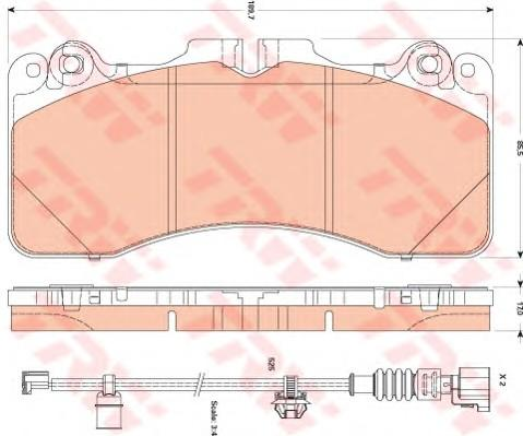 Колодки тормозные передние к-кт для Lexus LS (USF4#) 2006> - Фото №1