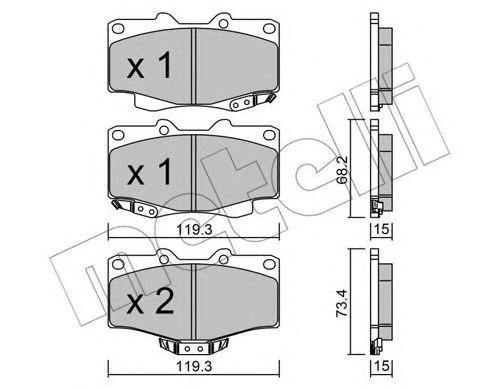Колодки тормозные передние к-кт для Great Wall Safe Suv 2003-2010 - Фото №1
