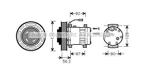 Компрессор системы кондиционирования для Volvo TRUCK FH13 2005-2008 - Фото №1