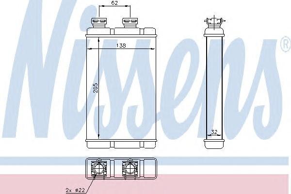 Радиатор отопителя для BMW 3-серия E46 1998-2005 - Фото №1