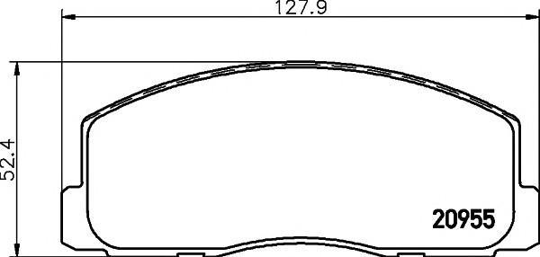 Колодки тормозные передние к-кт для Mitsubishi Space Wagon (D0) >1991 - Фото №1