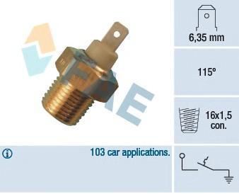 Датчик температуры для Fiat Palio 1996-2009 - Фото №1