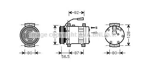 Компрессор системы кондиционирования для Renault TRUCK Kerax 1997> - Фото №1
