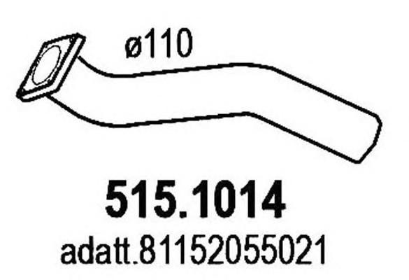Приемная труба глушителя для MAN TGX 2007> - Фото №1